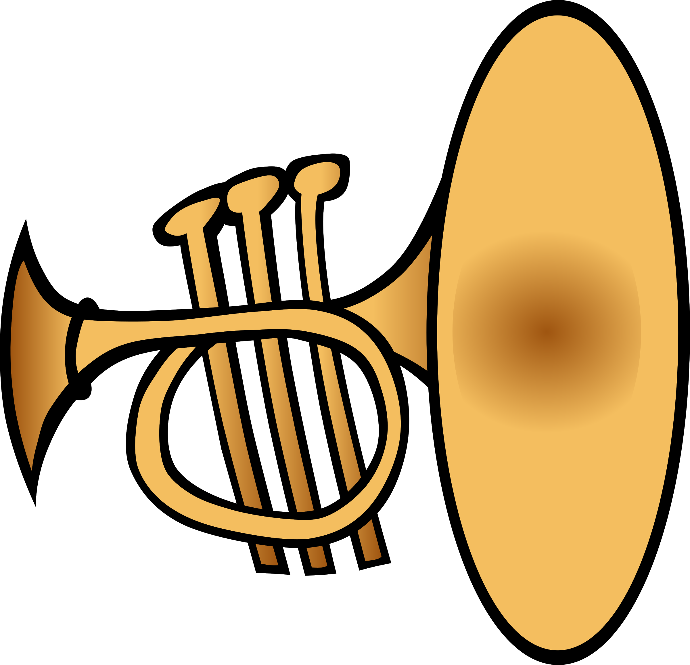 Silly trumpet big image. Musical clipart christmas