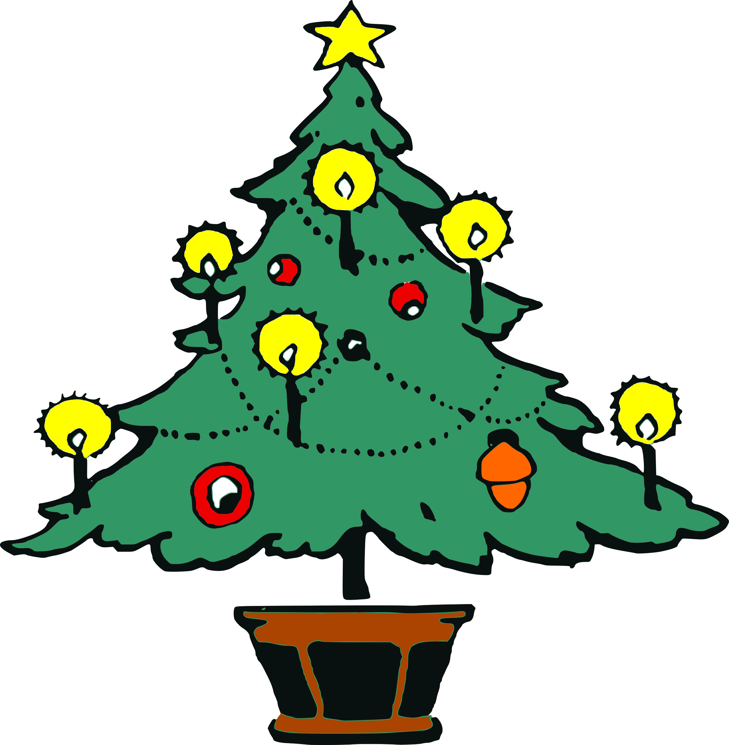 Simple tree silhouette at. Healthy clipart christmas