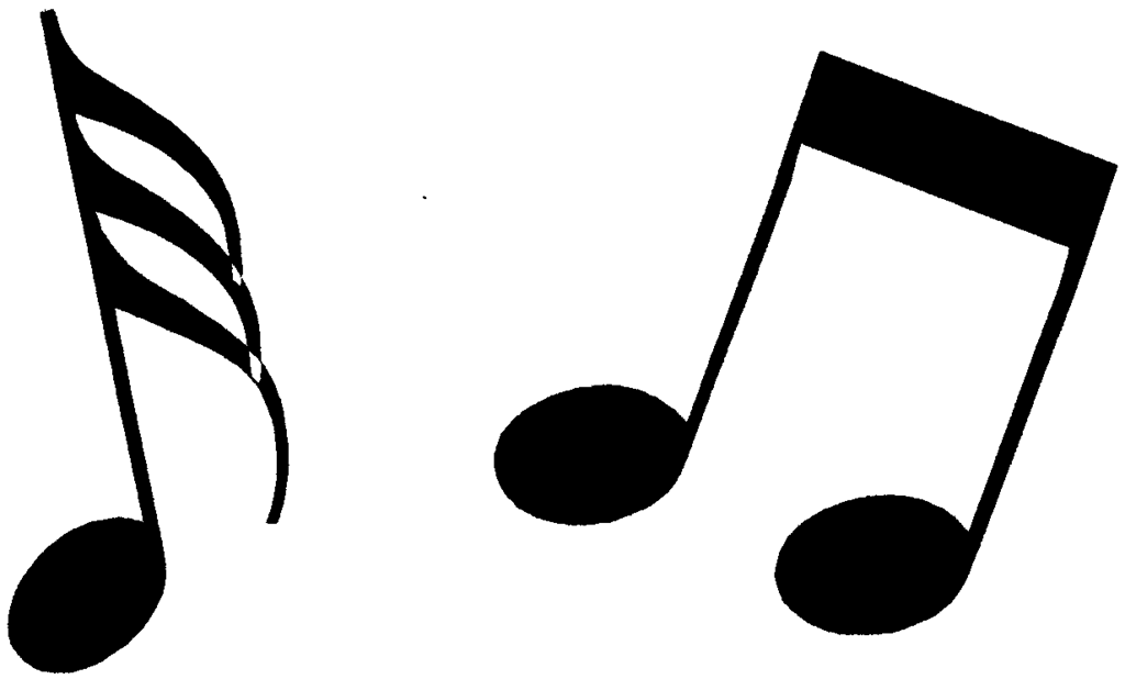 Free notes black white. Clipart music clip art
