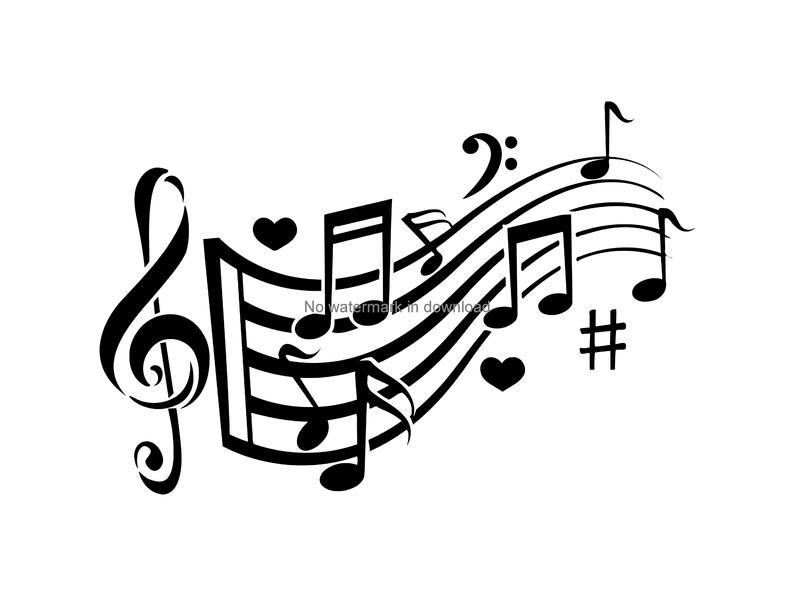 Svg love theme digital. Clipart music clip art