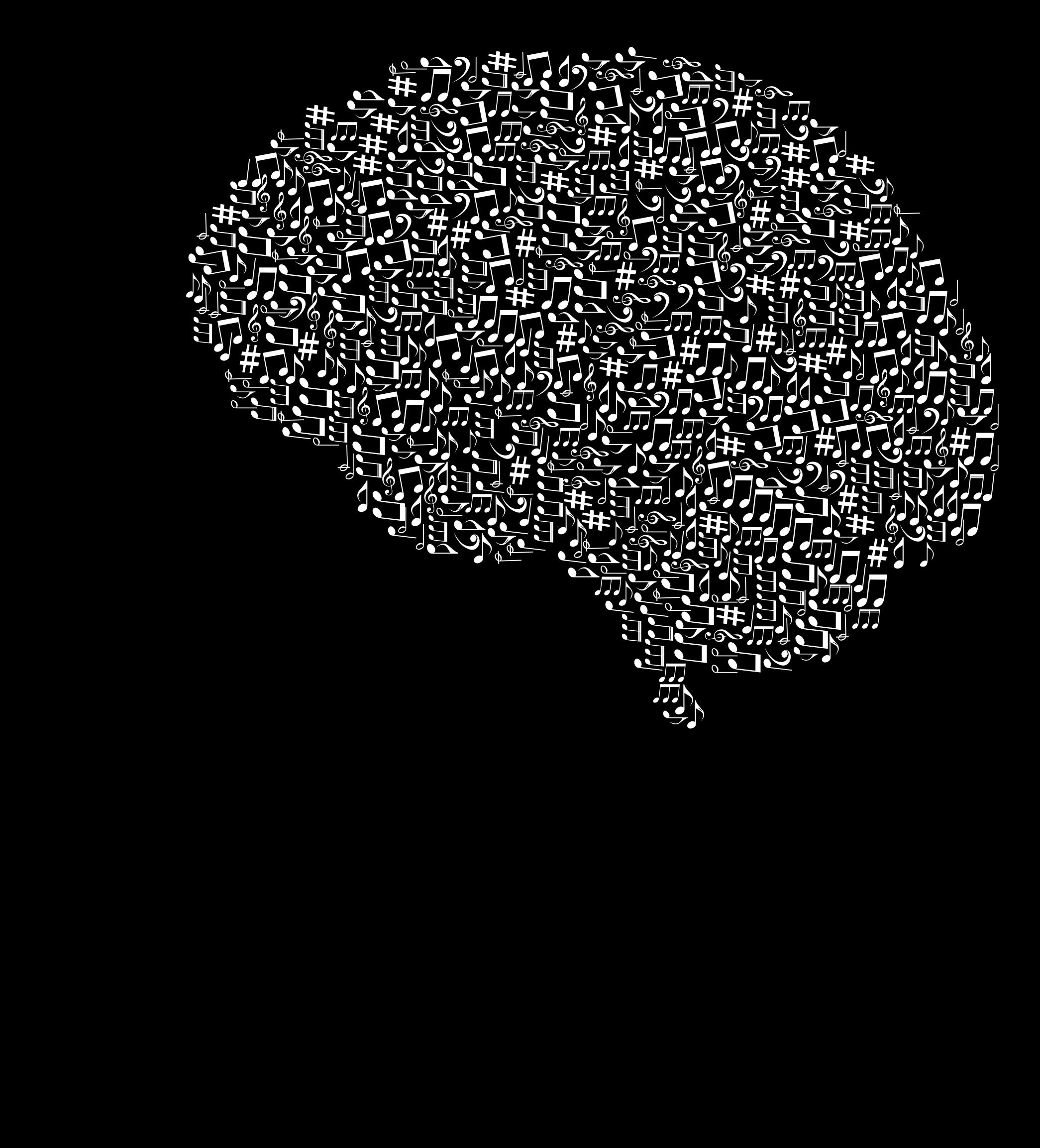 Music clipart silhouette. Head white big image