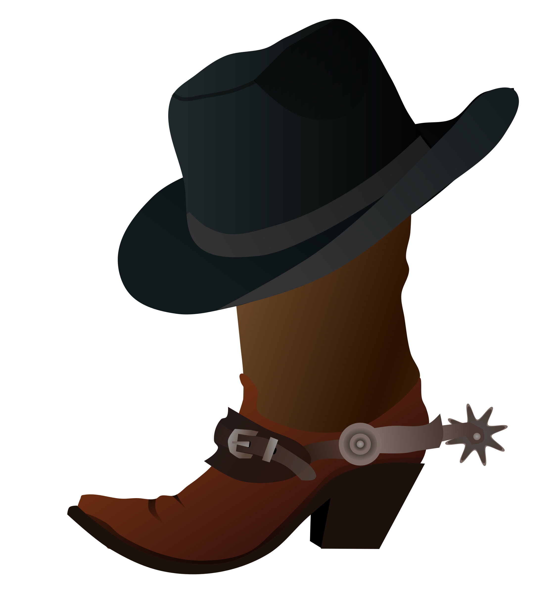 Clipart music country. Cowboy boot and hat