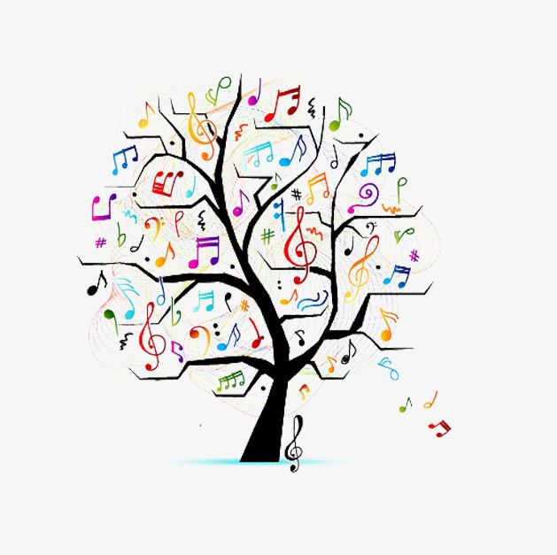 Tree clipart music. Free to pull creative