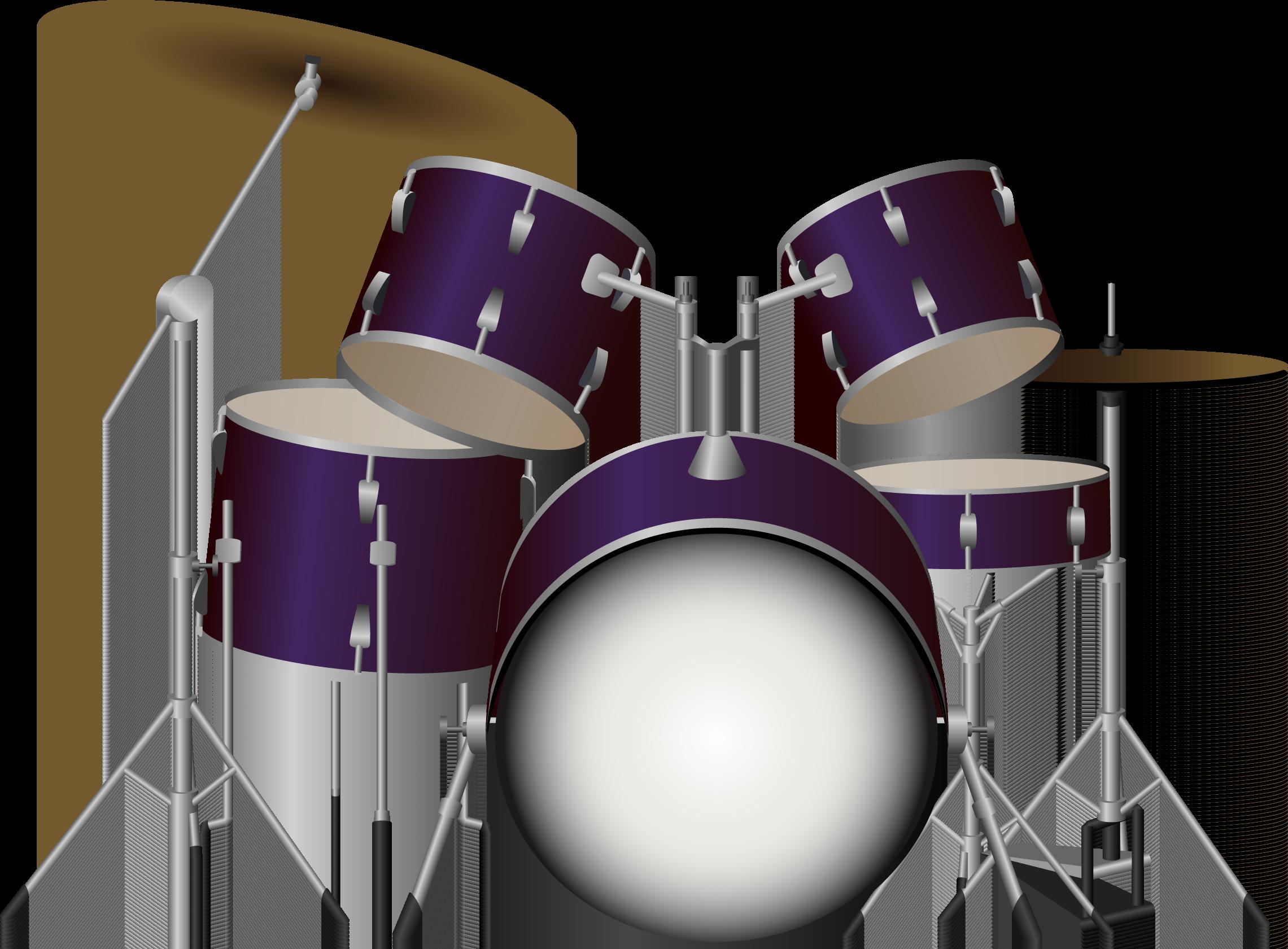 Red clipart drum set. Drums kit png image