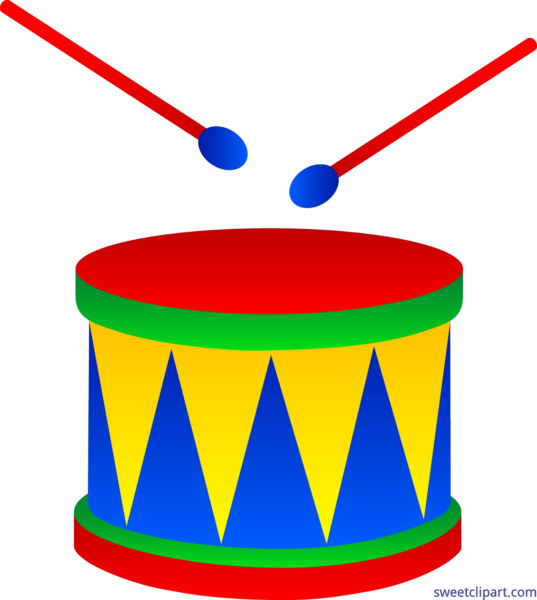 Sweet clip art page. Red clipart drum set