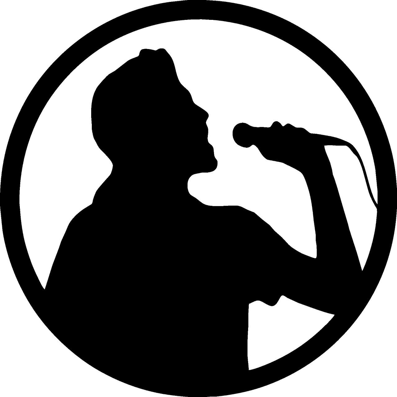 Microphone clipart group. Karaoke logo singer transparent