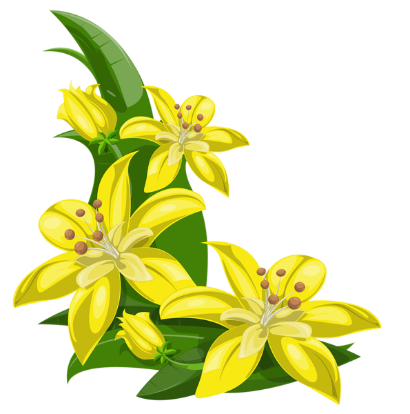 Wet clipart water flower. Yellow exotic flowers decoration