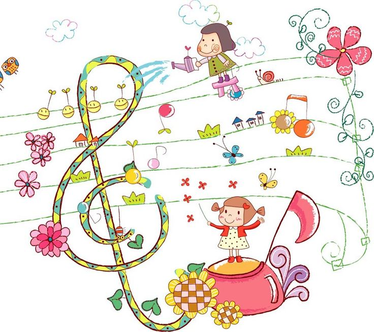 Garden clipart music. Free cartoon download clip