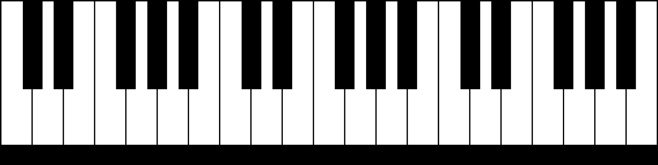 File klaviatur en svg. Piano clipart octave