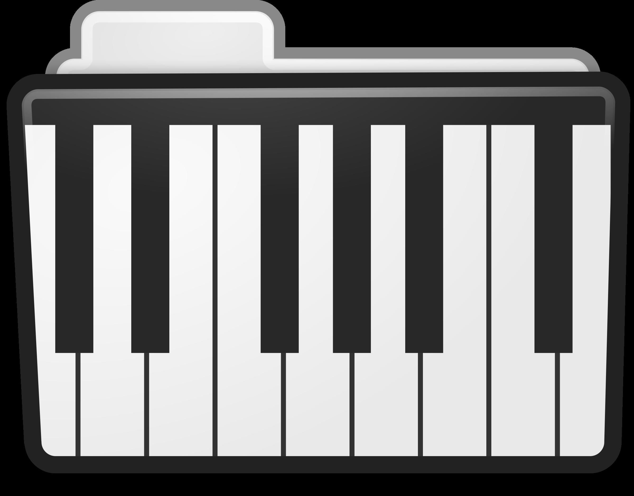 Folder icon. Piano clipart file