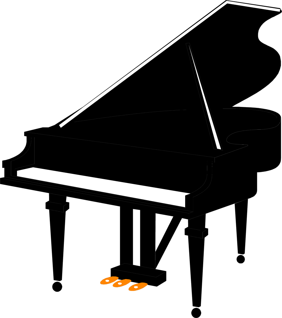Silhouette at getdrawings com. Piano clipart piano guitar