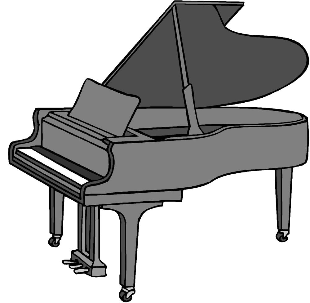 Cartoon drawing clip art. Piano clipart digital piano