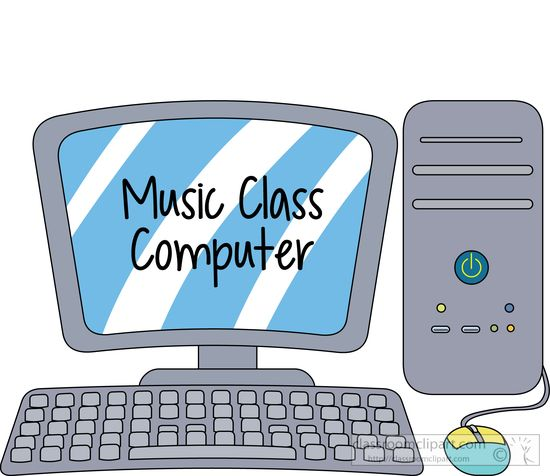 Computer and tablet freeputer. Clipart music laptop