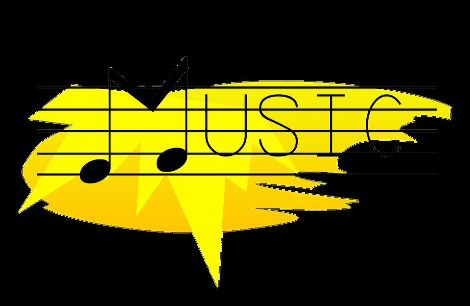 Horn clipart yellow. Music images qygjxz