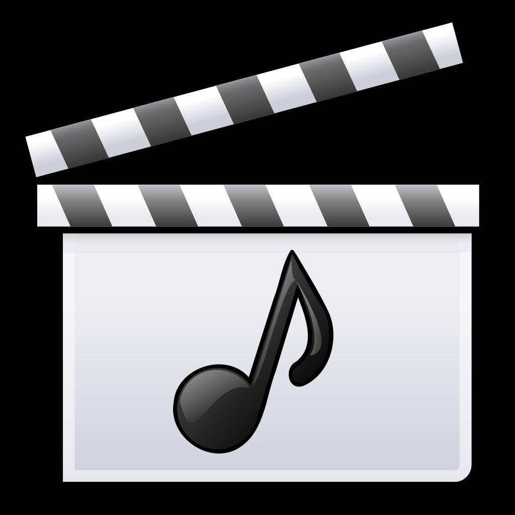 Film clipart clap board. File music clapperboard svg