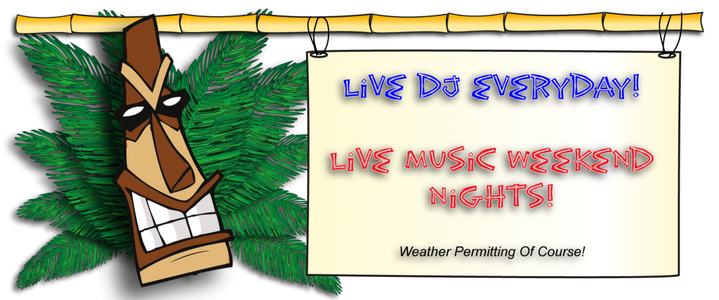 Oasis tiki bar grill. Clipart music live entertainment