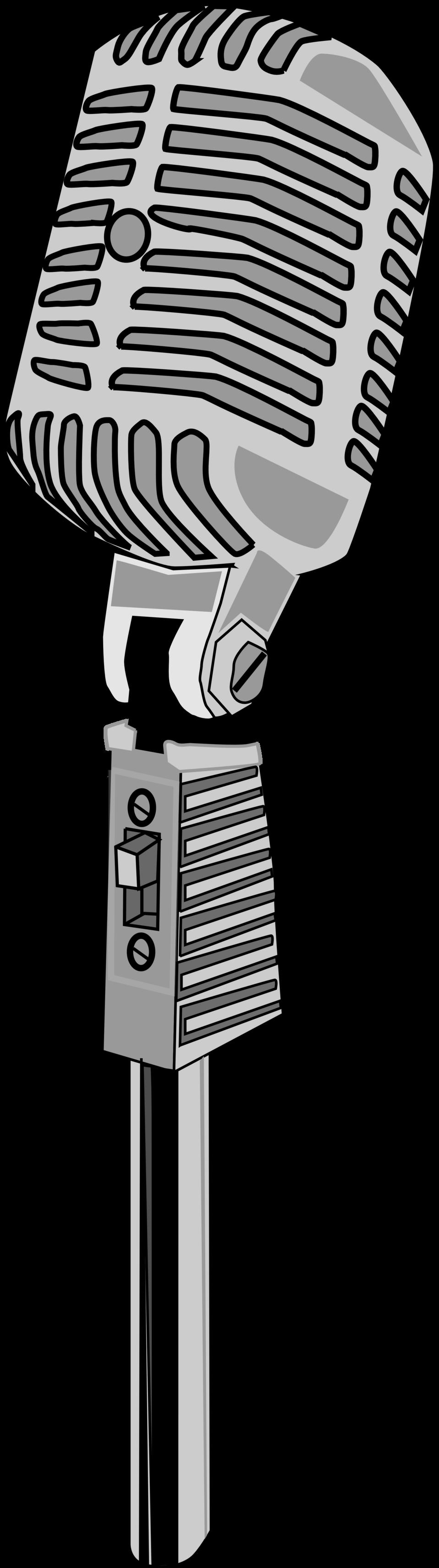 Clipart music microphone. Public domain clip art