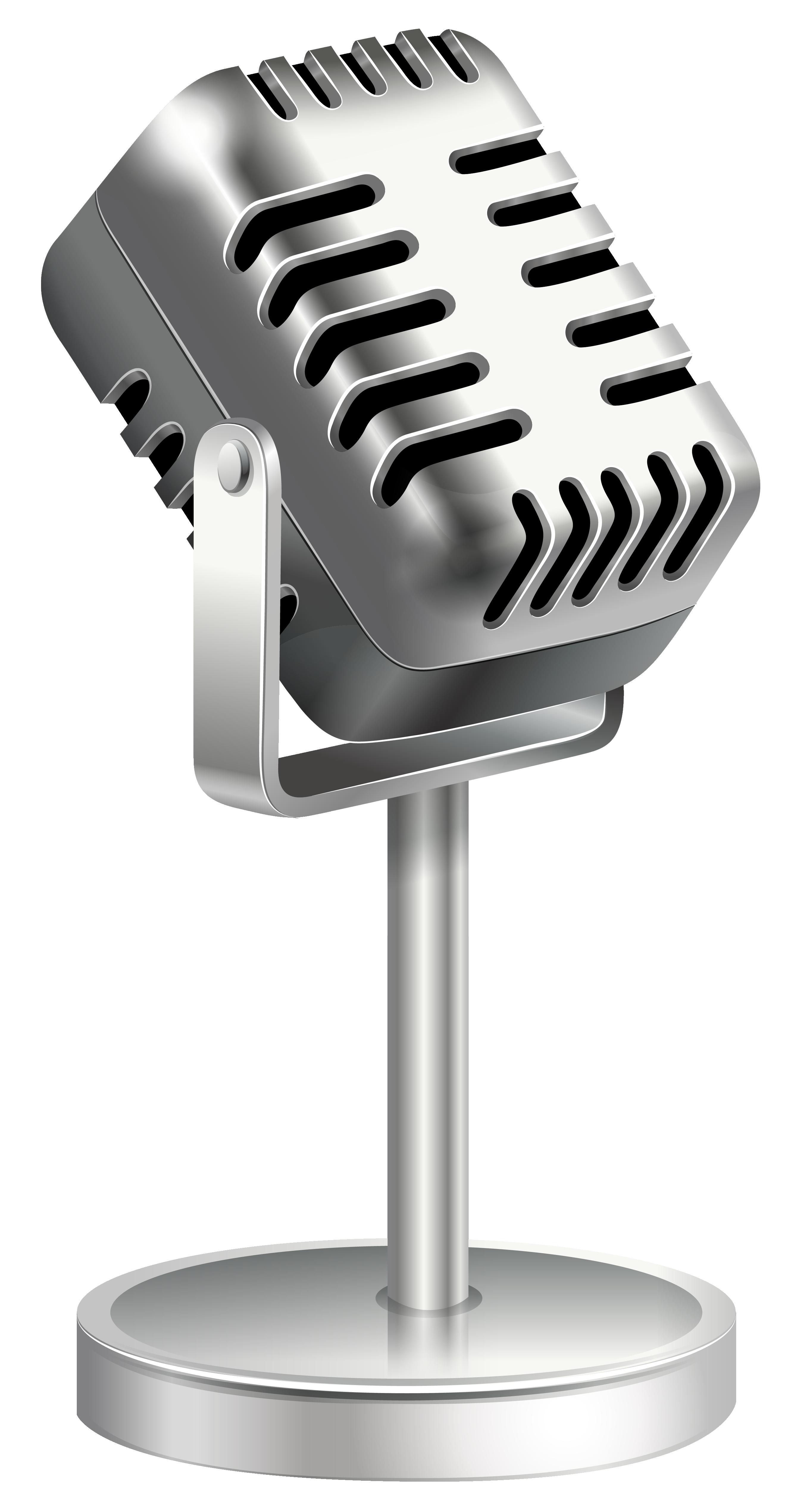 Retro microphone png image. Clipart studio mircophone