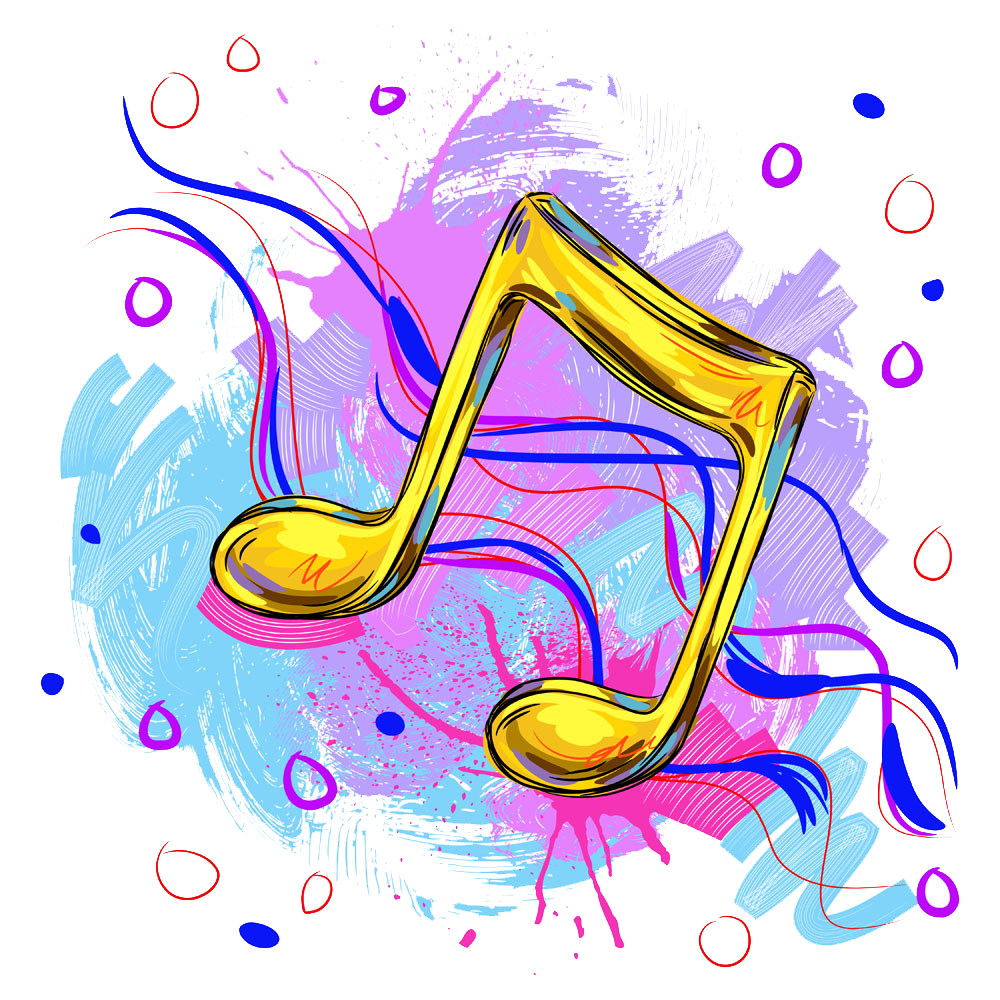 Note art painted notes. Musical clipart music education