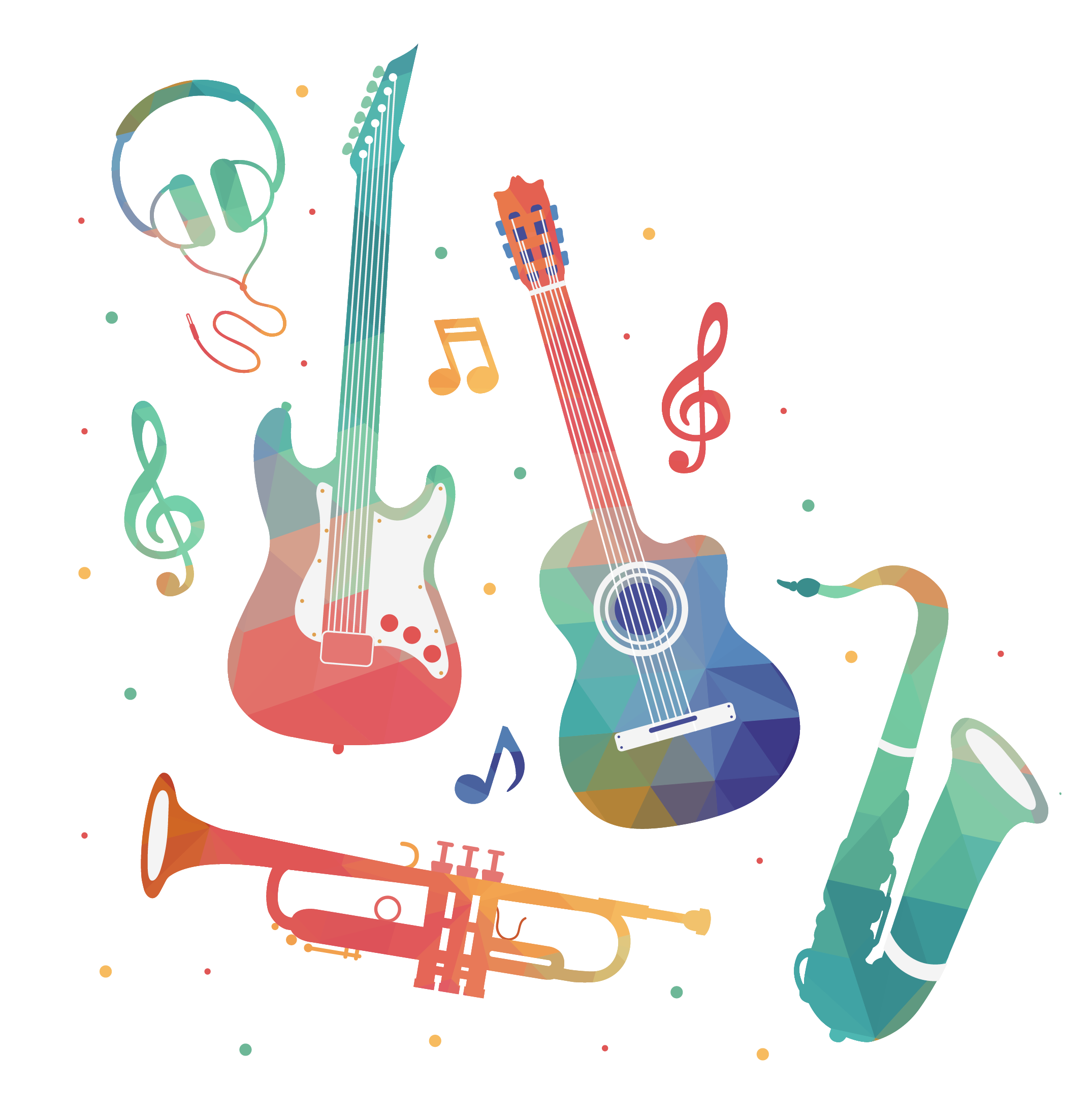 This business of music. Geometry clipart instrument