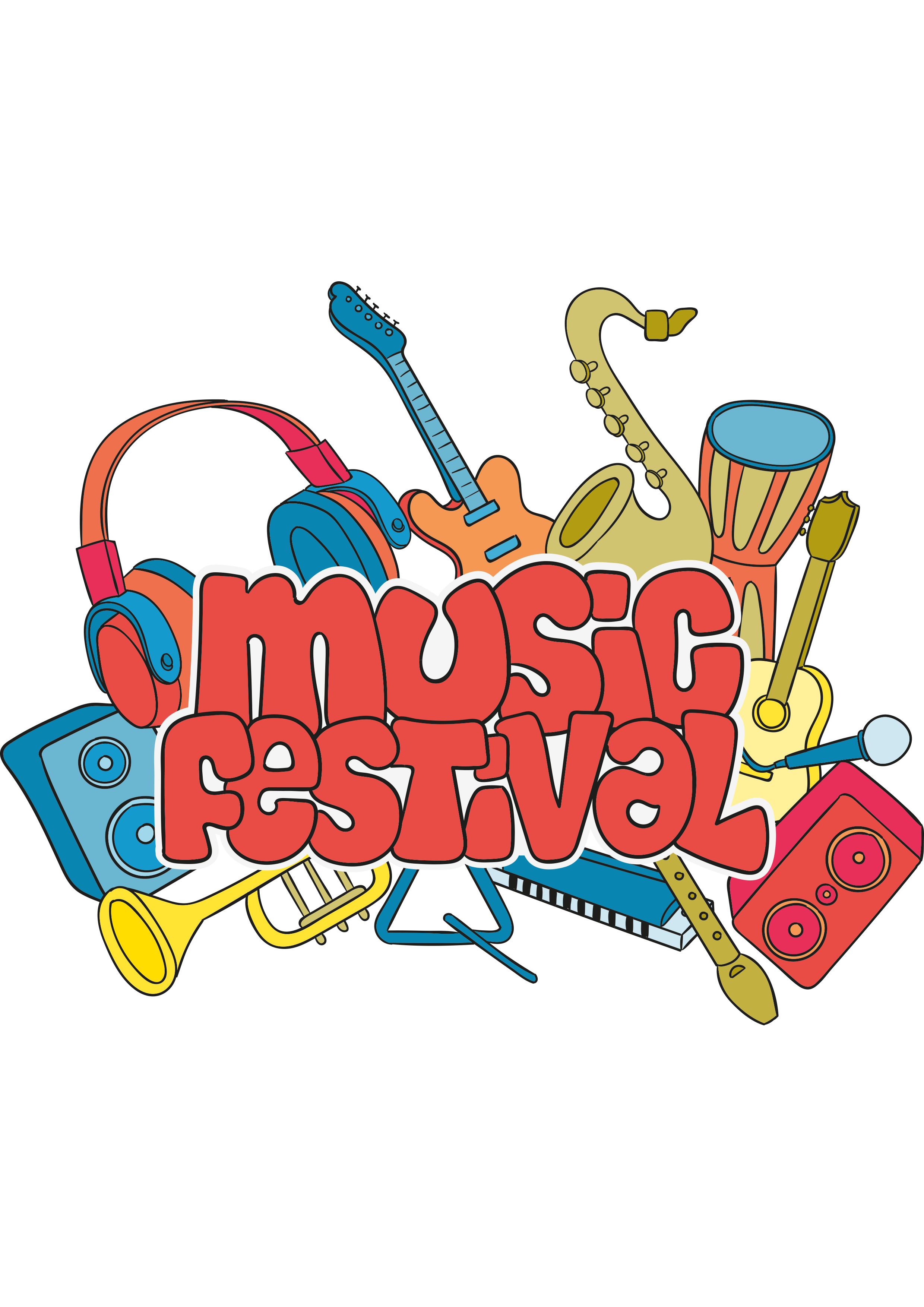 Musician clipart retro music. Festival clip art trend