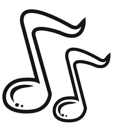 Notes panda free images. Clipart music music notation