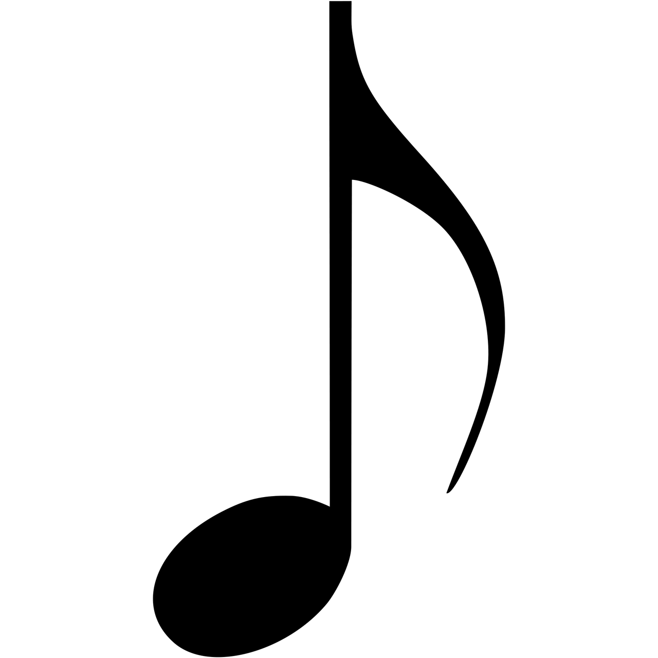 Musical note eighth transparent. Notes clipart misic