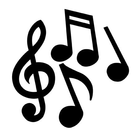 Printable images musical notes. Orchestra clipart music symbol