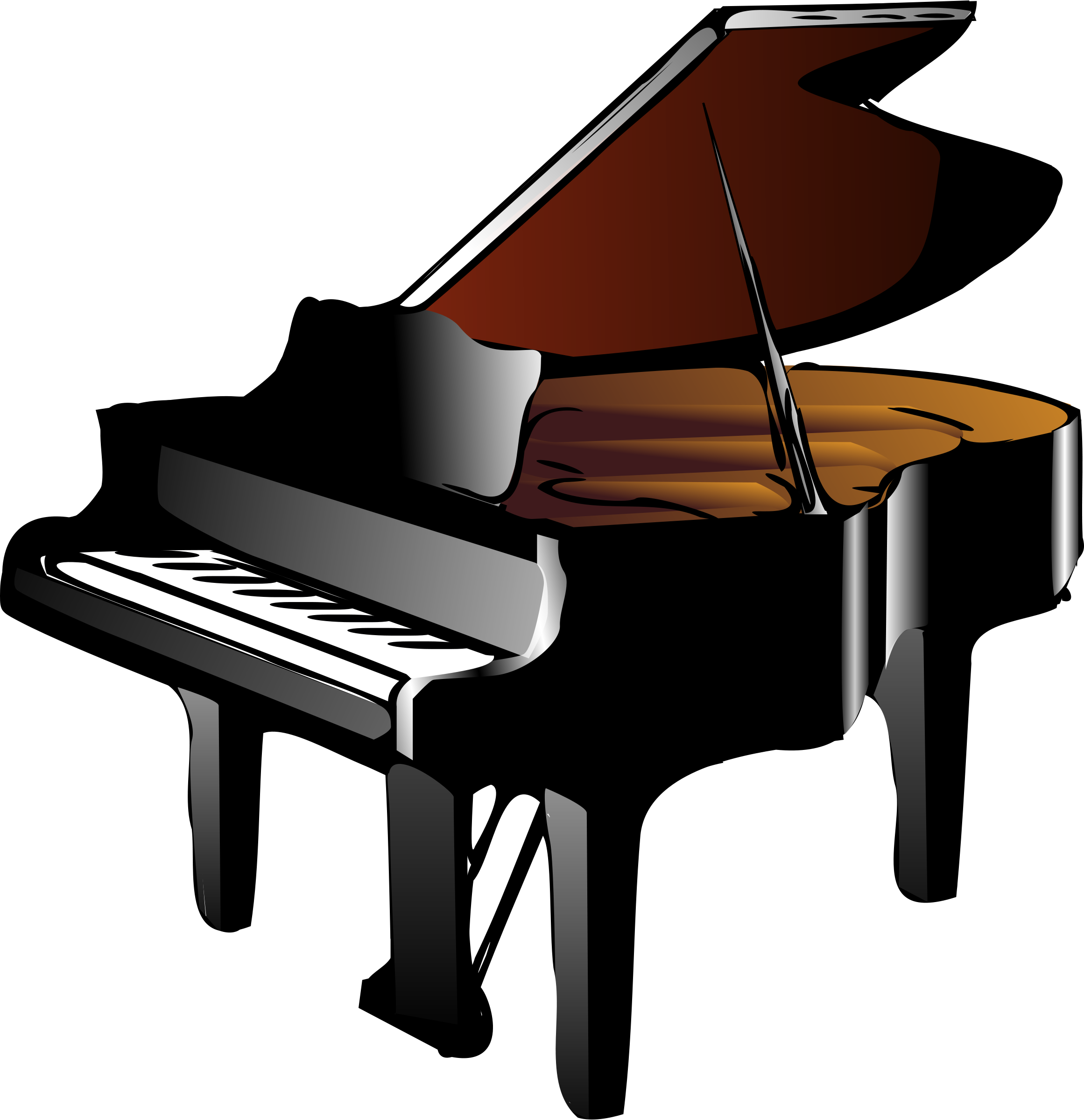 A concert pianist romance. Piano clipart ragtime