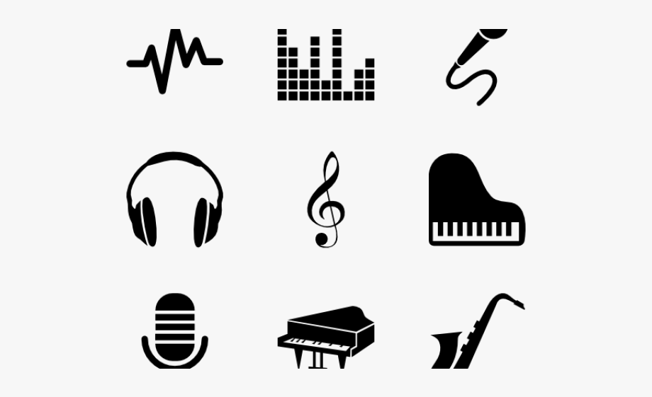 Label clipart music. Notes musical show record