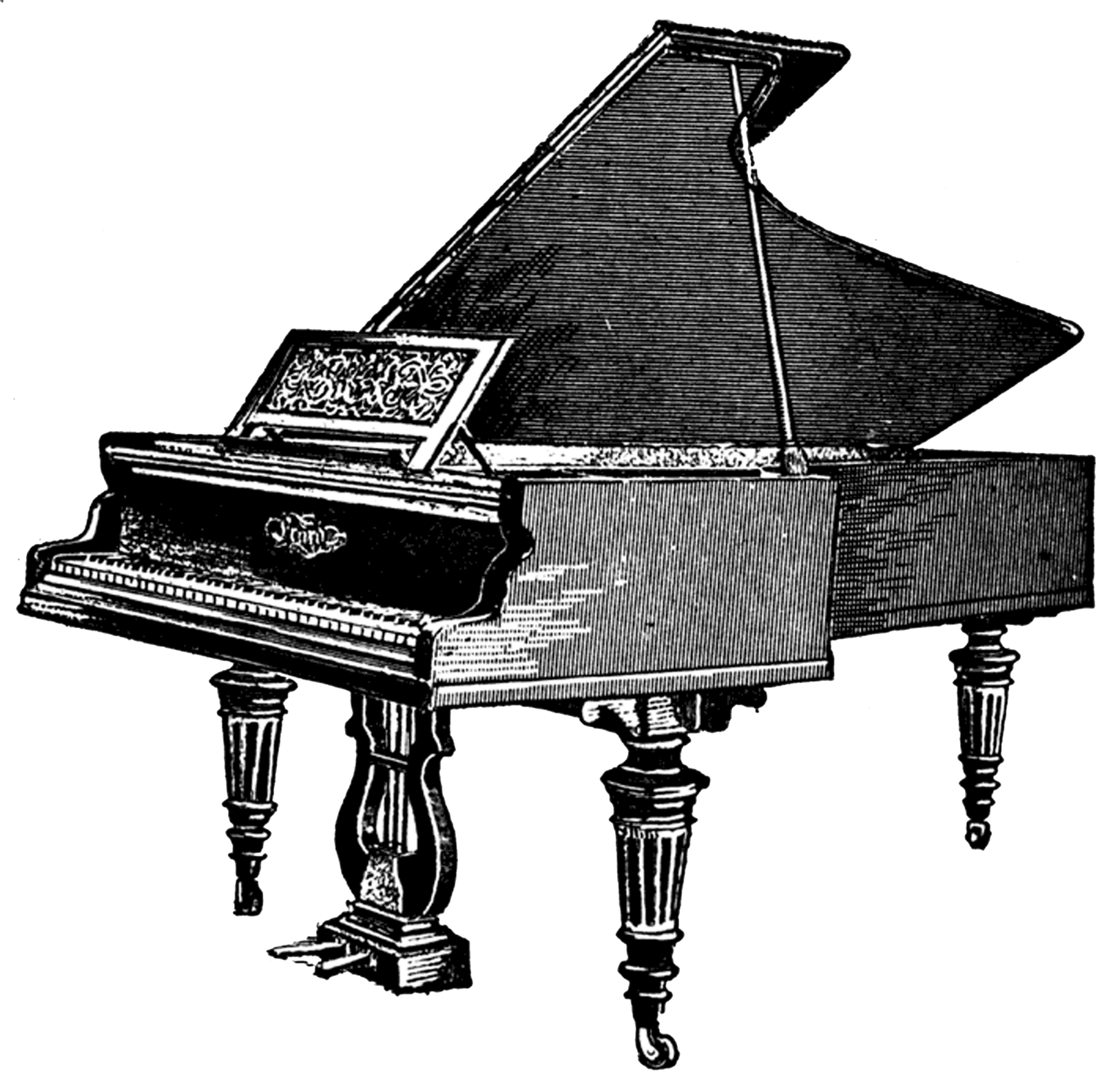 White clipart piano. Antique transparent png stickpng