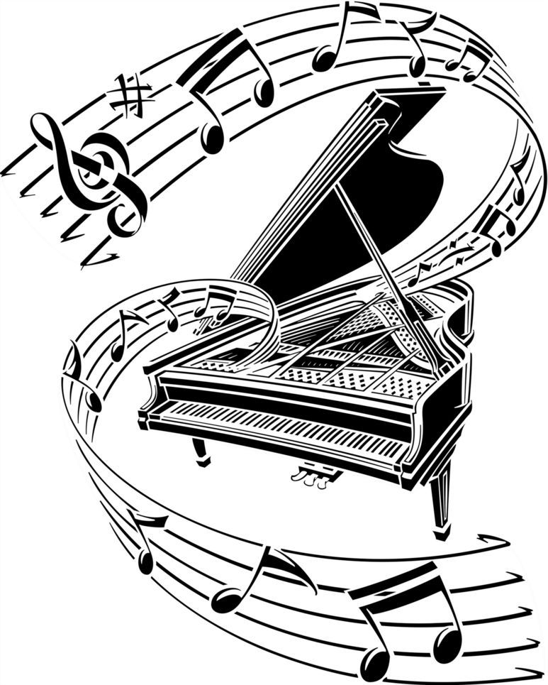 Key images cliparts co. Clipart piano music line