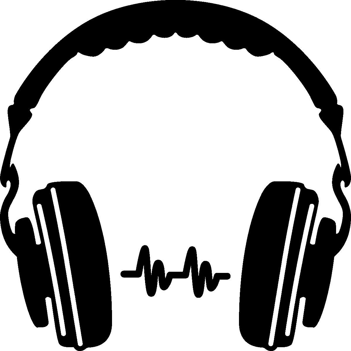 Silhouette clipart music. Headphone at getdrawings com