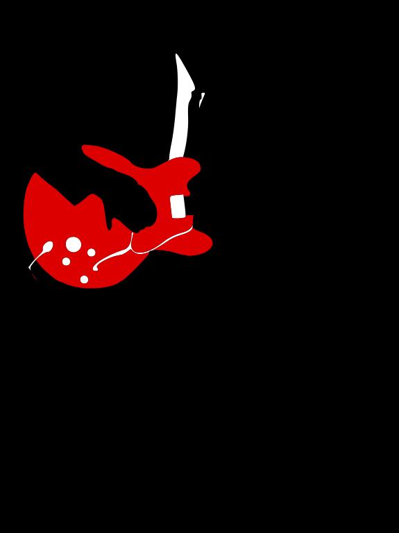 Music clipart silhouette. File rocknrollguitarist svg wikimedia