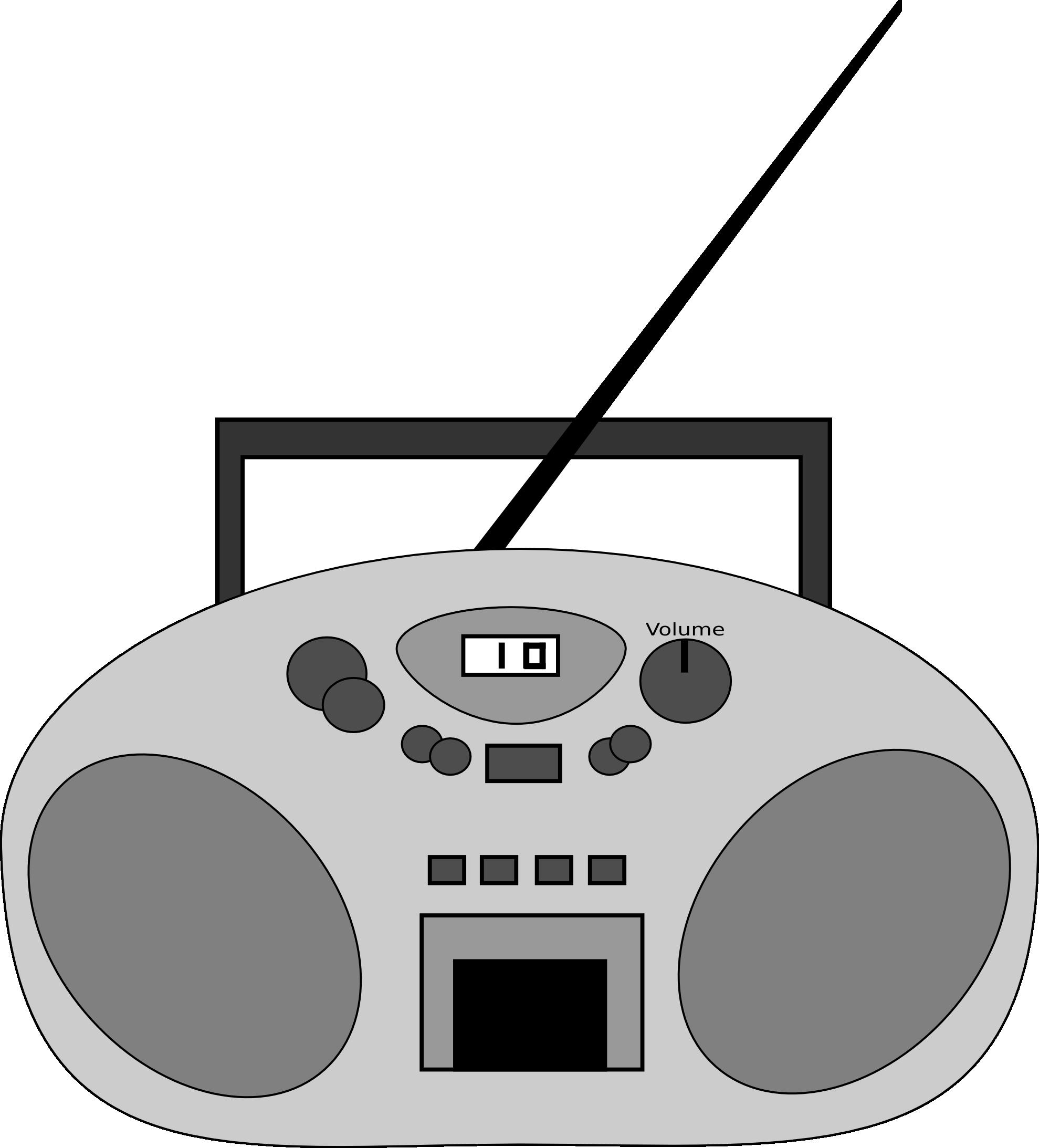 Radio clip art free. Electronics clipart tech