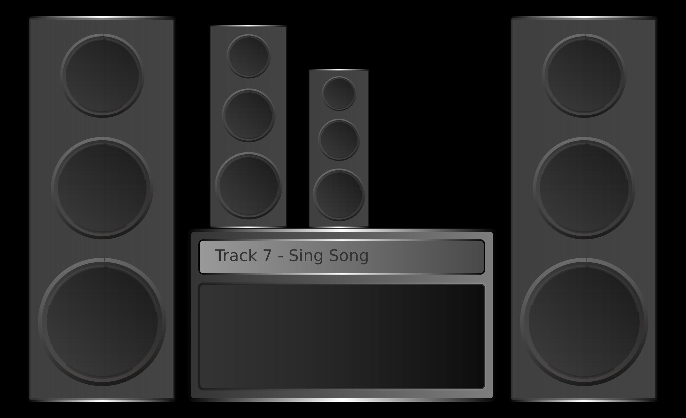 Hi fi big image. Clipart music stereo