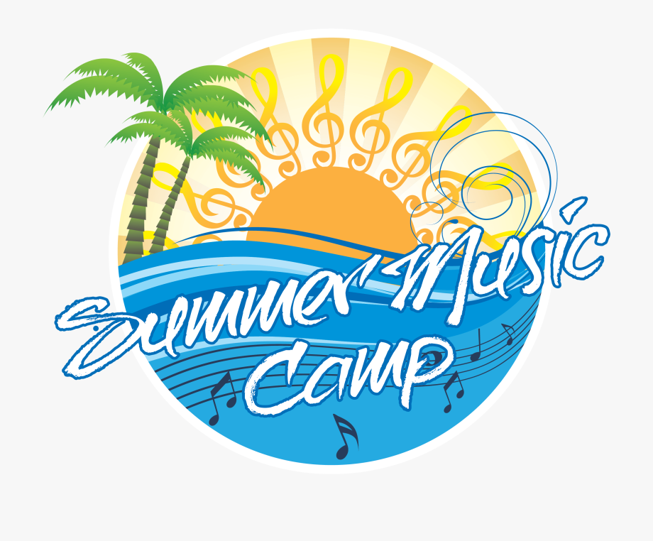 Concert camp logo . Clipart music summer
