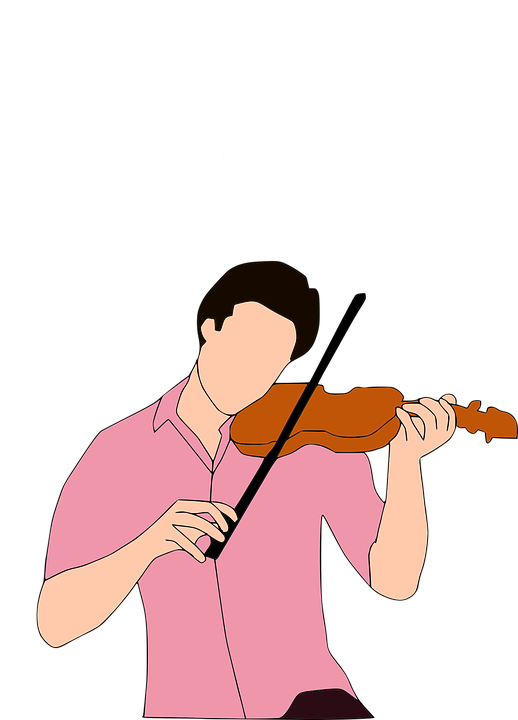 Clipart music violin. Silhouette violinist at getdrawings