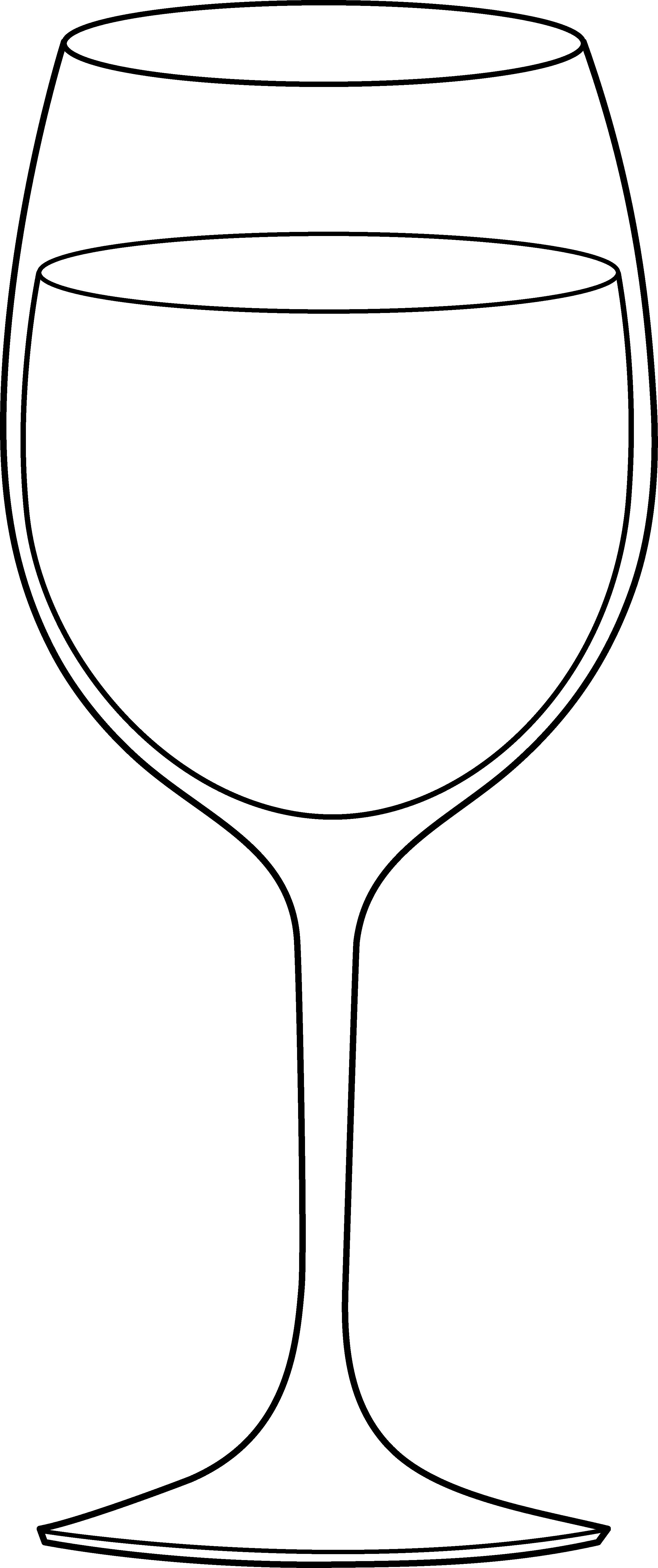 Glass clipart drinking glass. Wine line art free