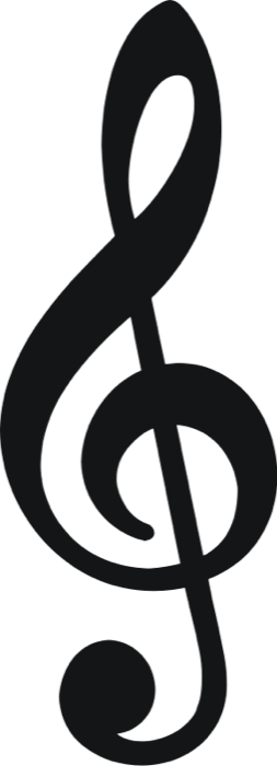 Free note treble clef. Clipart music