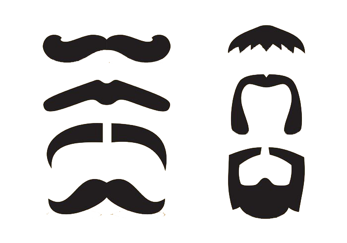 Moustache clipart facial hair. Beard clip art cartoon