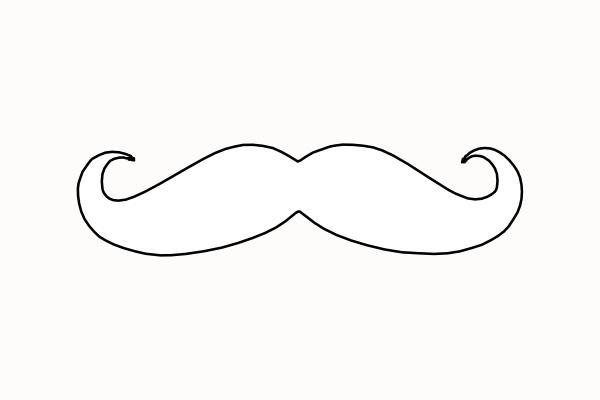 Free mustache download clip. Moustache clipart outline