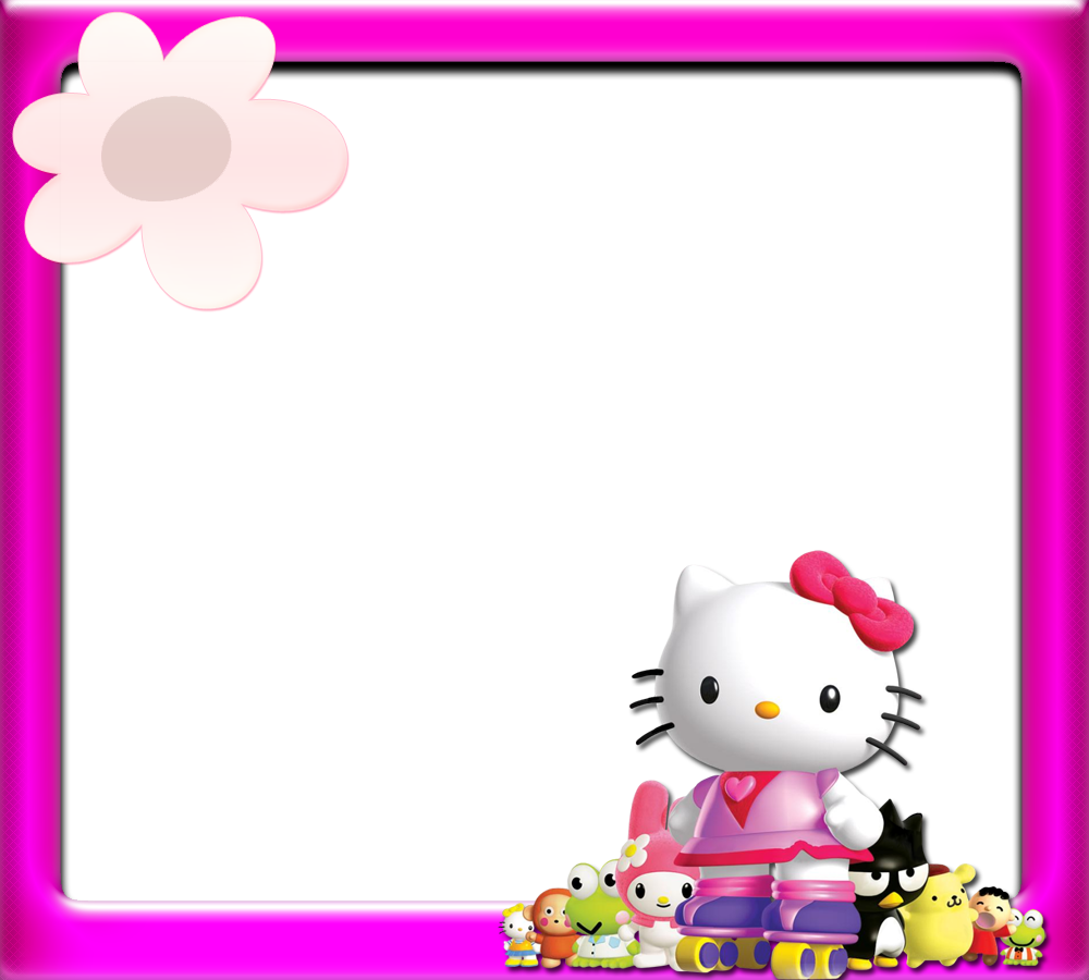 Surprise clipart border. Hello kitty borders images