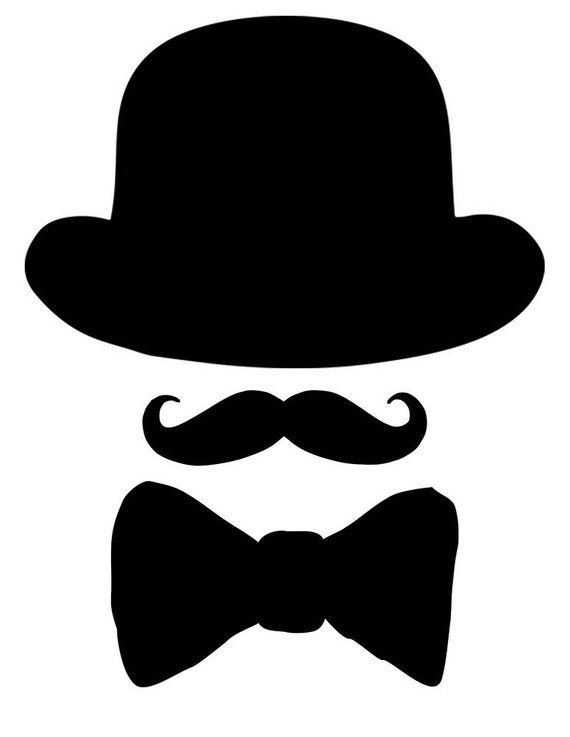 Pin by virgen col. Mustache clipart man's hat