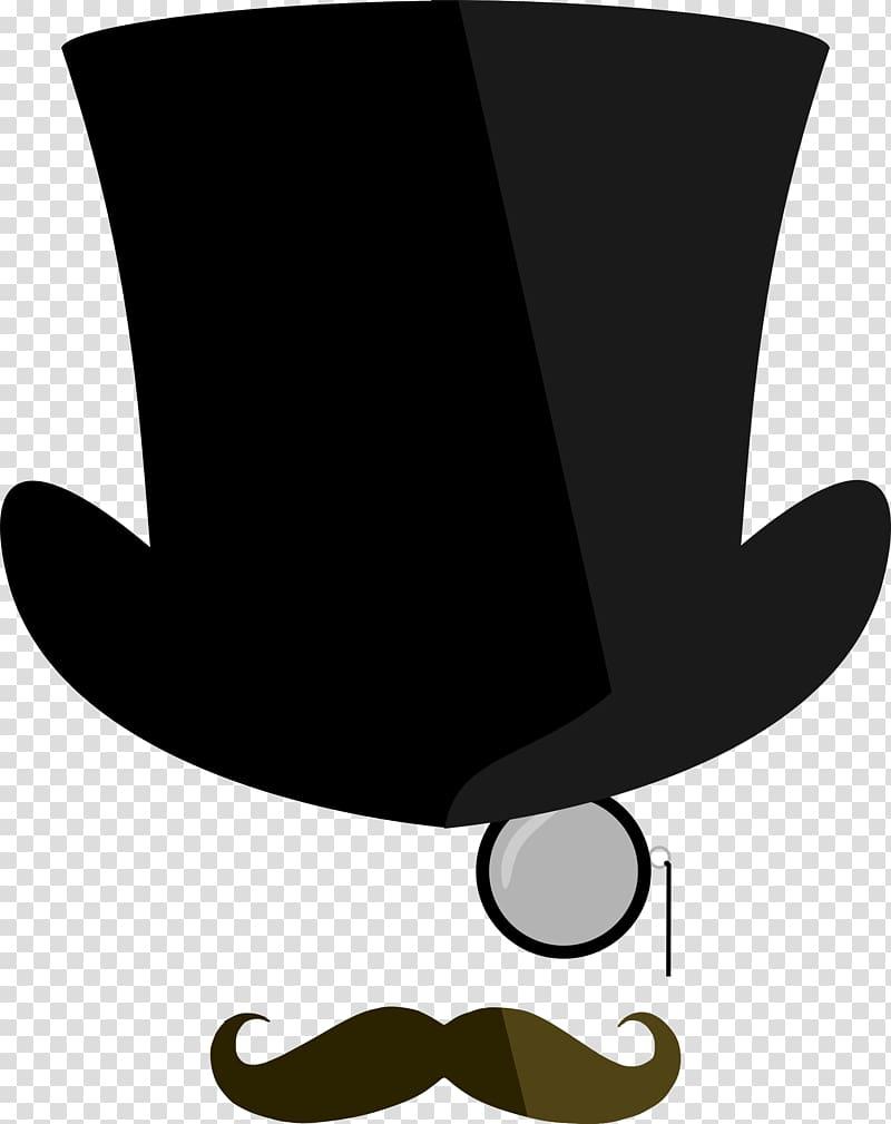 Moustache clipart top hat. Monocle transparent background