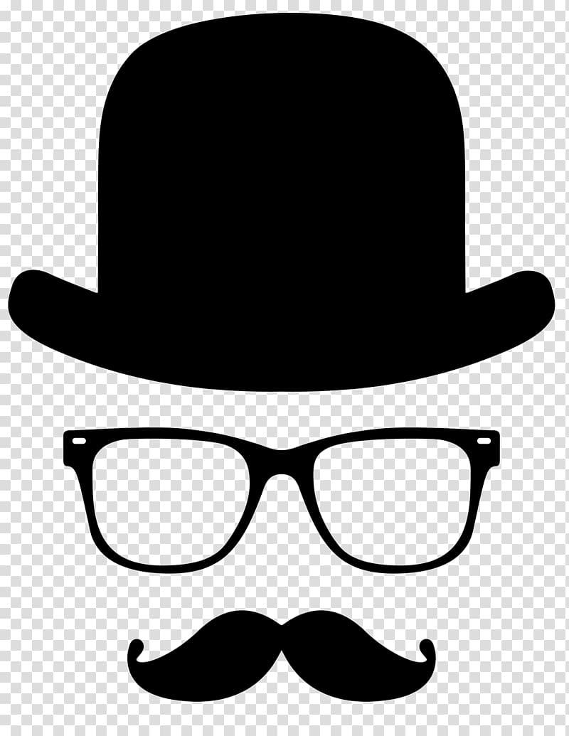 Moustache t shirt top. Clipart mustache bowler hat