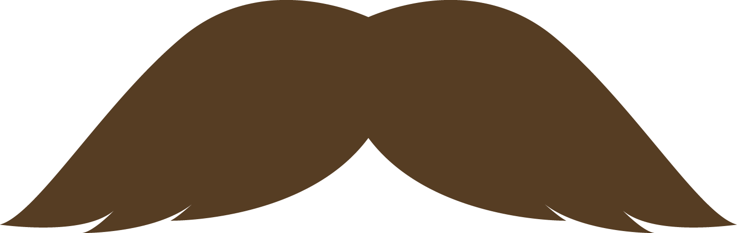 Movember mustaches part run. Moustache clipart brown