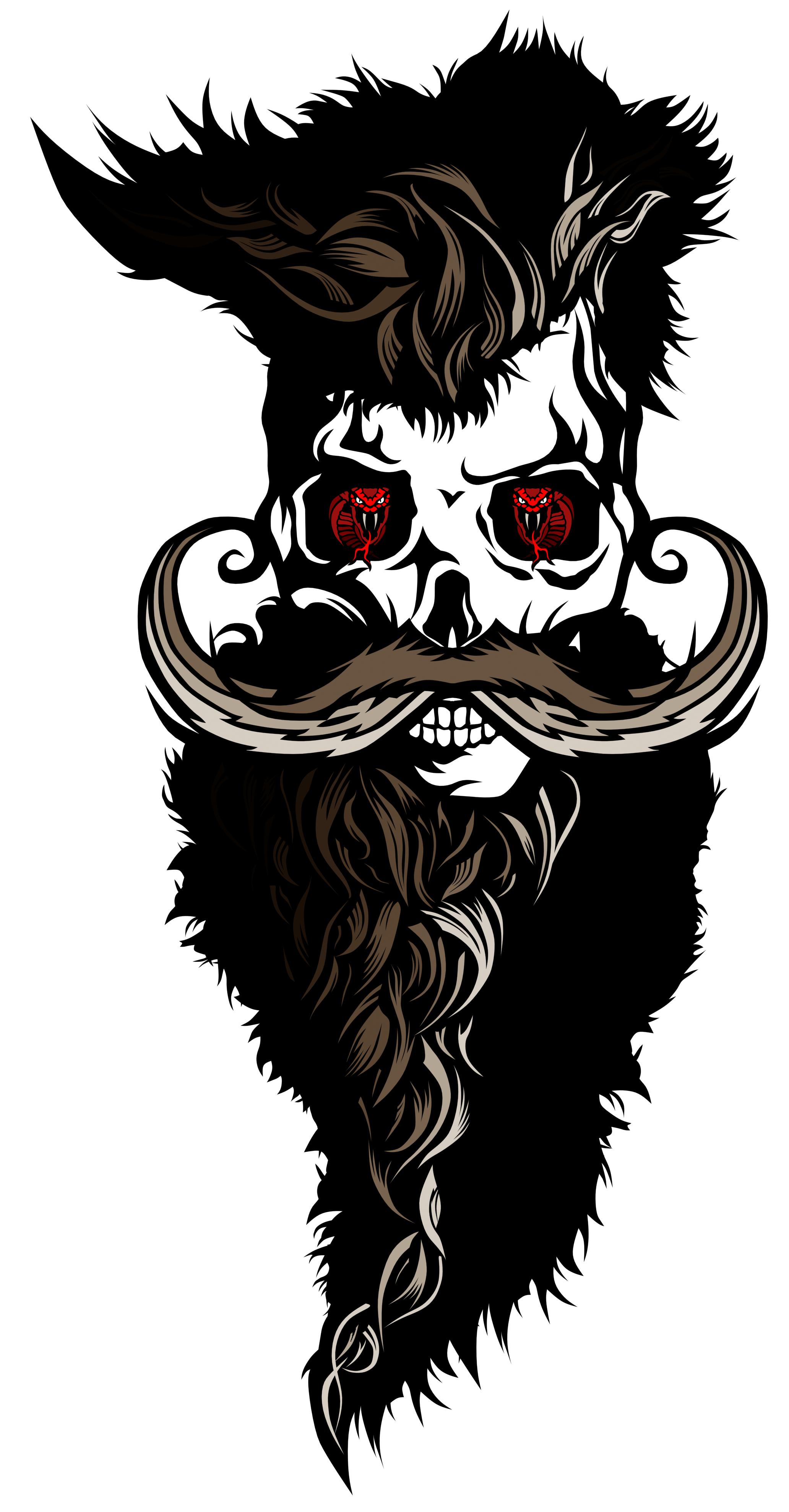 Tee shirt tete de. Mustache clipart biker