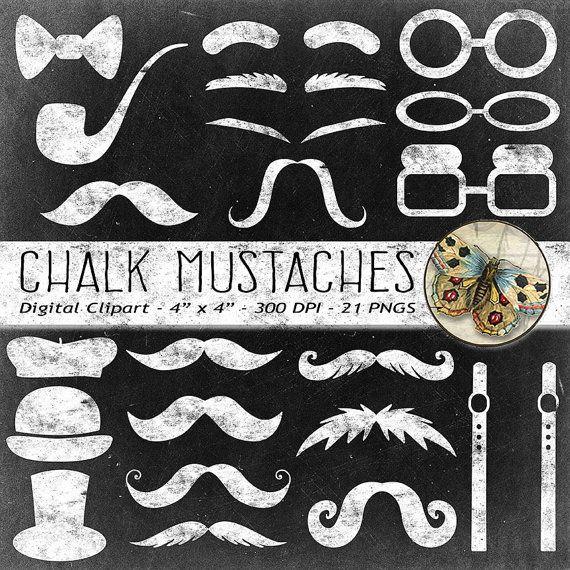 Mustache mustaches hats glasses. Moustache clipart chalkboard