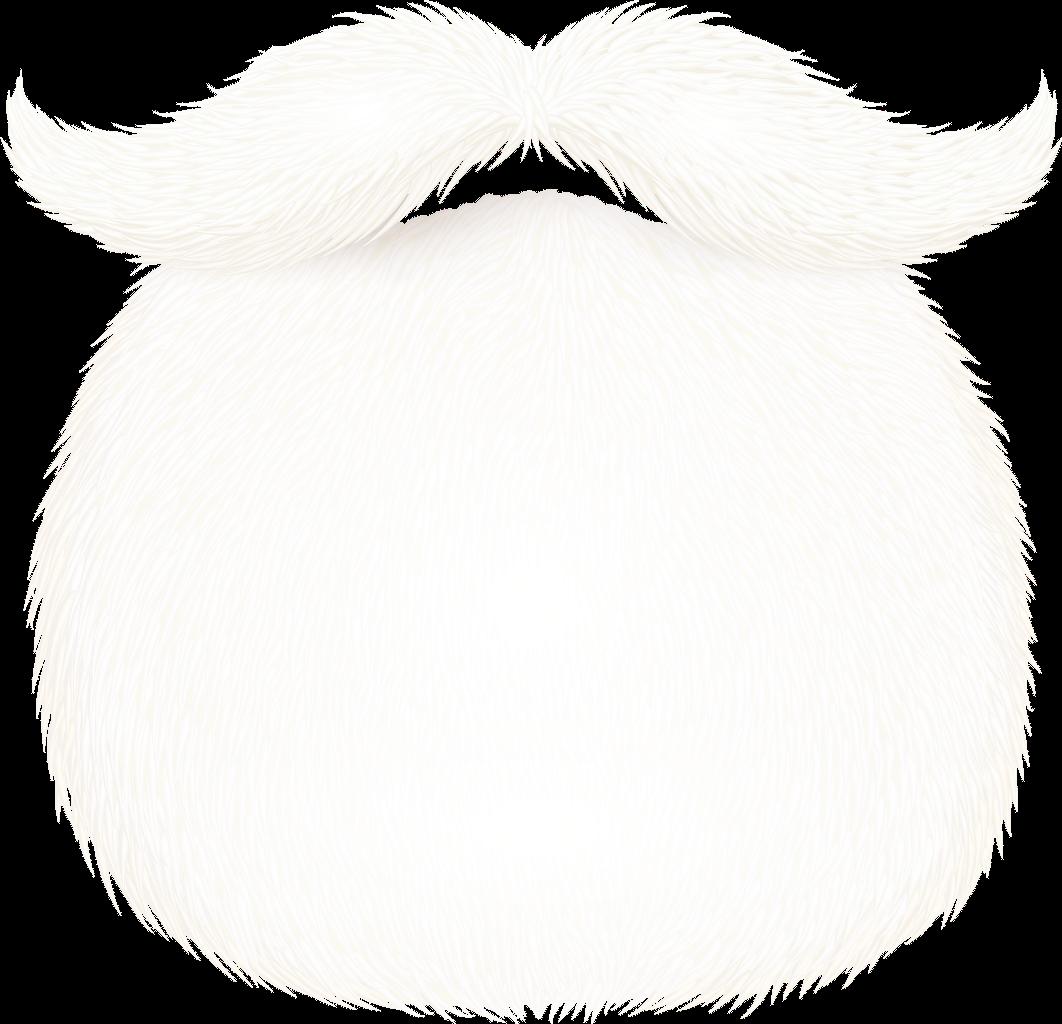 Xmas beard white whitebeard. Moustache clipart santa